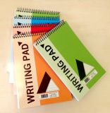 A5 escolhem a almofada de memorando feita sob encomenda espiral dos cadernos da escola da almofada de escrita