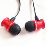 Portable de Siroka no auscultadores da orelha com microfone e o controlador de volume em linha