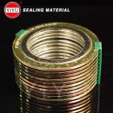 Продукция фабрики силы, рана Gasket+Graphite Собственн-Маркетинга спиральн, высокое качество набивкой замотки набивкой кольца металла