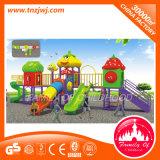 Diapositiva al aire libre material del juego del patio plástico