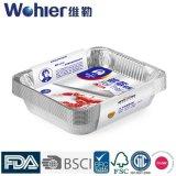 음식 급료 알루미늄 호일 콘테이너 음식 저장을%s 재상할 수 있는 장방형 낙농장 사용