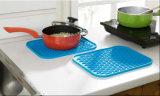 Mat van de Onderlegger voor glazen van de Lijst van het Silicone van de Toebehoren van de keuken de Vierkante