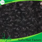 Prolongation humaine indienne non-traitée de vente chaude de cheveux de Remy de cheveux bouclés