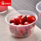 Wegwerfbarer runder niedriger Plastiknahrungsmittelbehälter, Mittagessen Bento Kasten