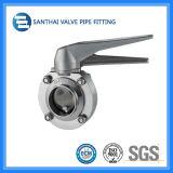 Ss304/Ss316Lの衛生ステンレス鋼の溶接された蝶弁