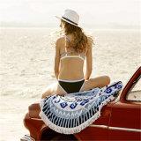 Algodão da qualidade superior impresso em volta da toalha de praia