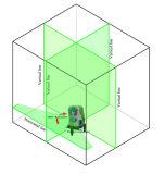 Niveau van de Laser van de Hulpmiddelen van de hand het Groene met 5 Lijnen van de Laser en de de Mobiele Bank van de Macht en Ontvanger van de Laser