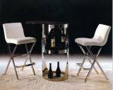 Metallweißes Leder-Küche-Stuhl für Verkauf