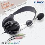 Fabrik-Preis-Doppeltes eingesteckter Computer-Kopfhörer mit Mikrofon