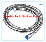 Boyau de douche extensible de blocage d'acier inoxydable double Lbo12-001 dans la salle de bains