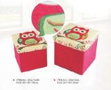 2016 Best-Selling Vierkante Pouffe van de Opslag Ottomane/de Kruk van de Stoel met Roze Afgedrukte Gsa1163