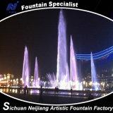 Фонтан квадратного освещения фонтана танцы нот цветастого напольный большой