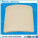 Espuma de prata adesiva do íon que veste a limpeza do cuidado da ferida