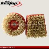 Shape rotondo Steel Wire Cup Brush per Polishing Stone