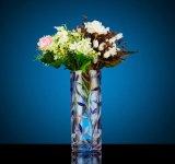 Floreros claros baratos altos de los floreros cristalinos al por mayor baratos de la fuente de la fábrica