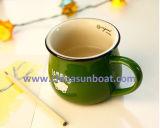 Vajilla de imitación retro de la taza de café de la taza del esmalte de la taza de cerámica de Sunboat