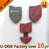 USB Shaped Pendrive de Waterdrop do logotipo feito sob encomenda do PVC 2D/3D (YT-6660L)