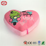 Cuore Shape con Frog Pattern Pink Lovely Soft Stuffed Pillow