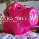 Esfera inflable del globo de la dimensión de una variable del cerdo del color de rosa del cartón del desfile