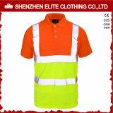 Camisas de polo longas por atacado do trabalho da segurança do Vis da luva olá!