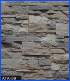 Revêtement en pierre, pierre de revêtement, pierre concrète, pierre artificielle, pierre manufacturée (ATA-09)