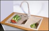 Composé composé blanc de granit de bassins de cuisine de bassin