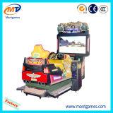 Máquina de juego de arcada del coche de competición de los cabritos con el juego video