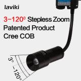 CREE COB LED foco zoom foco de pista ajustável com flexível Gooseneck