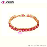 Form 18k Gold-Plated Elegant Womens Crystal Jewelry Bracelet 74014