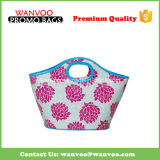 Bolsa simples floral do Tote do transporte da forma do PVC
