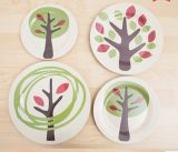 (BC-P1026) Plaque en bambou de vaisselle de fibre de qualité