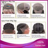 Cheveux de Vierge de perruques de lacet de cheveux indiens du prix de gros de gros 100% pleins