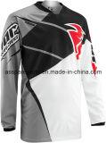 Guida che attraversa il paese grigia Jersey (MAT90) di Motorcross della maglietta di sport