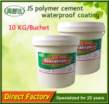 Rivestimento d'impermeabilizzazione di Js di resistenza alle intemperie del cemento rispettoso dell'ambiente del polimero
