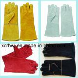 De versterkte Handschoenen van het Lassen van het Leer