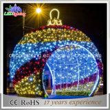 Luz ao ar livre do motivo da decoração da esfera da rua do diodo emissor de luz da venda por atacado comercial