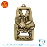 고품질 금에 있는 주문을 받아서 만들어진 야구 메달 또는 은 또는 고급장교