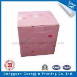 Rectángulo de empaquetado del color del regalo acanalado rosado del papel