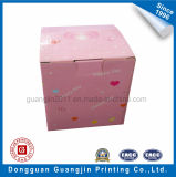 Коробка розового подарка бумаги цвета Corrugated упаковывая