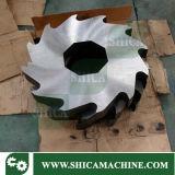 Reciclar la desfibradora de gran alcance de dos ejes del bolso del tambor plástico de goma/de la película plástica