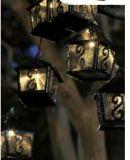 Het zonne Metaal Lanternstring Lichte 10 LEDs van de Drempel