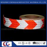 Cinta reflexiva de la seguridad blanca y roja de las flechas con el cedazo cristalino (C3500-AW)