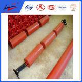 Förderanlagen- Spannrolle, durch Rolle, Träger-Rolle und galvanisierte Stahlrolle für Bandförderer