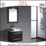Шкафы тщеты ванной комнаты PVC и дуба с зеркалом СИД