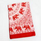 Arbeitsweg-Begleiter-roter Voile-Elefant gedruckter Schal