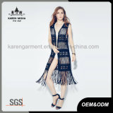 fashion Black Fringe Swimwear 숙녀의 카디건