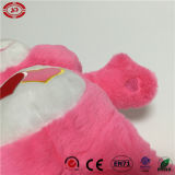 A cor-de-rosa encheu o brinquedo encantador macio da qualidade com o urso da peluche do coração