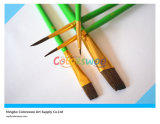 5PCS Wooden Handle Artist Brush in pvc Bag voor Painting en Drawing