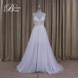 A - la ligne bonne mince de mariées de lacet de robe nuptiale rectifie la robe de mariée