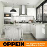 Шкаф блоков кухни самомоднейшего лака модульный угловойой с островом (OP15-L32)